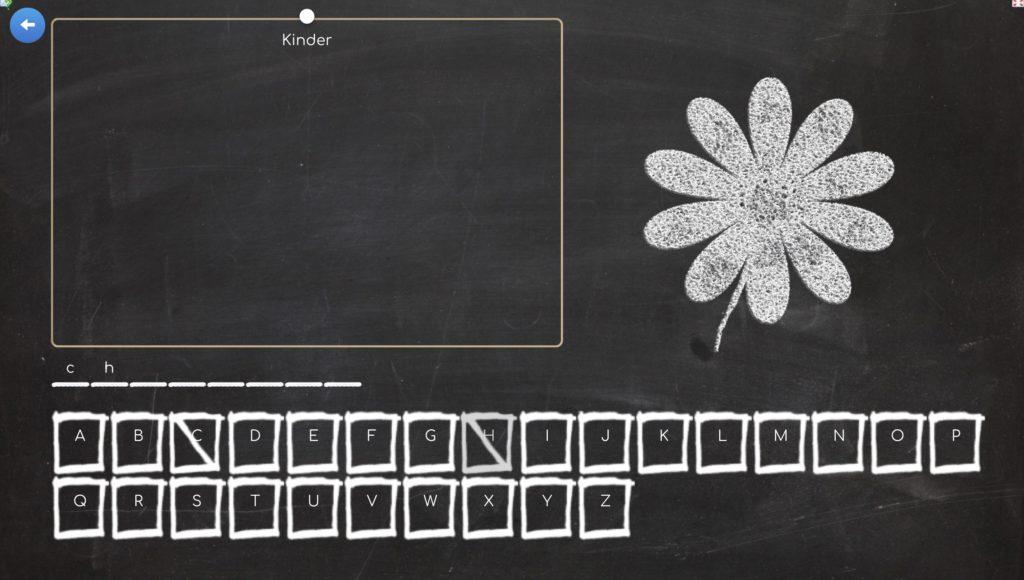 Screenshot eines Hangman-Spiels auf Learningapps.org
