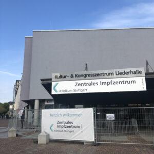 Zentrales Impfzentrum Klinikum Stuttgart (Außenansicht)