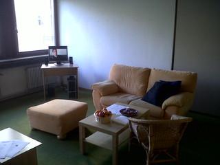 """[Bild:""""Lounge""""-Raum des vorläufigen…]"""