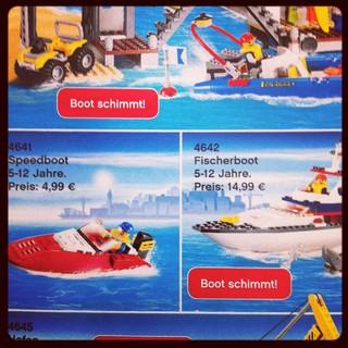 [Bild:Bei #LEGO können die Boote sc…]