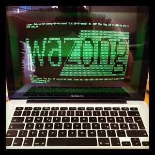 [Bild:Riesenspaß: MacBook zu vt220 …]