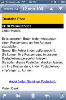 """[Bild:Ohai """"Deutche Post"""" (seems leg…]"""