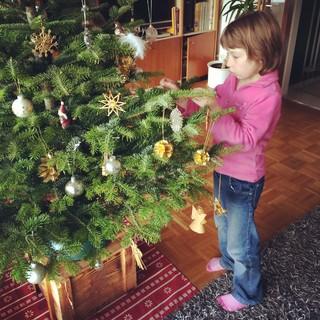 [Bild:Weihnachtsbaum wird geschmück…]