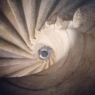 [Bild:Wendeltreppe (eigentlich sogar eine Dopelwendeltre…]